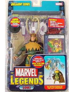 TOYBIZ MARVEL LEGENDS 13 ONSLAUGHT SERIES LOKI ブリスター傷み特価