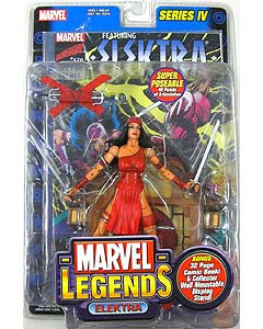 TOYBIZ MARVEL LEGENDS 4 ELEKTRA #1 ブリスター傷み特価