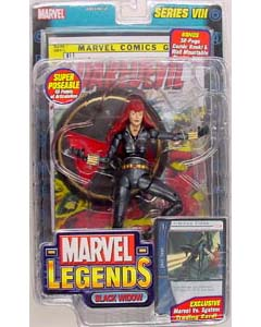 TOYBIZ MARVEL LEGENDS 8 BLACK WIDOW