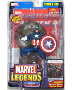 TOYBIZ MARVEL LEGENDS 8 VARIANT CLASSIC CAPTAIN AMERICA  [グレーペイントなし]