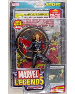 TOYBIZ MARVEL LEGENDS 8 VARIANT BLACK WIDOW