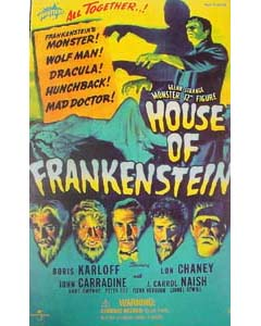 SIDESHOW 12インチ HOUSE OF FRANKENSTEIN THE MONSTER : GLENN STRANGE 開封済み中古美品特価