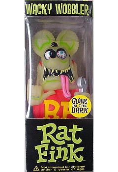 FUNKO WACKY WOBBLER RAT FINK WRENCH GLOWS IN THE DARK