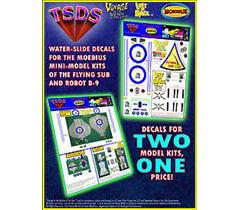 TSDS メビウスモデル プラモデル用 デカール ミニサイズ フライングサブ&フライデーロボット コンボセット