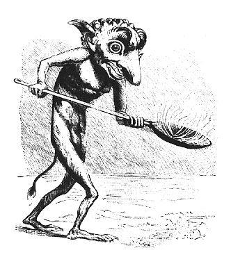 UKOBACH [ストーンカラー] 悪魔像 コールドキャスト ミニスタチュー