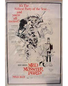 MOVIE POSTER MAD MONSTER PARTY