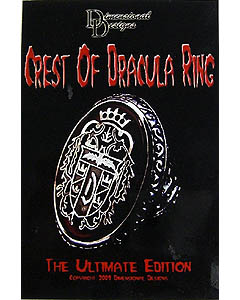 DIMENSIONAL DESIGNS CREST OF DRACULA RING