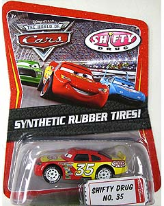 MATTEL CARS THE WORLD OF CARS K-MART限定 SYNTHETIC RUBBER TIRES! SHIFTY DRUG NO.35