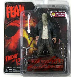 MEZCO CINEMA OF FEAR PREVIEWS限定 リメイク版 FRIDAY THE 13TH JASON VOORHEES