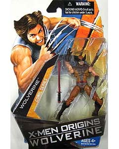 HASBRO X-MEN ORIGINS WOLVERINE SERIES 1 WOLVERINE [BROWN]
