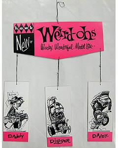 WEIRD-OHS 店頭ディスプレイ用、吊り下げポップ