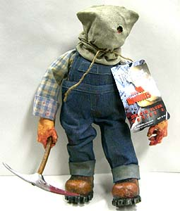 MEZCO CINEMA OF FEAR 14インチ PLUSH DOLL FRIDAY THE 13TH PART 2 JASON VOORHEES