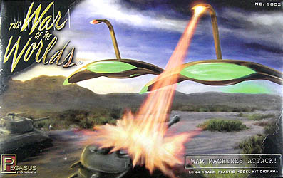 ペガサスホビー 1/144スケール 宇宙戦争 マーシャンズウォーマシン 襲撃ジオラマセット 組み立て式プラモデル