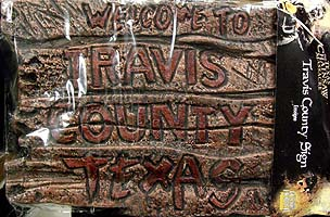 RUBIE'S THE TEXAS CHAINSAW MASSACRE リメイク版 TRAVIS COUNTRY SIGN 横幅:約54センチ