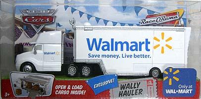 THE WORLD OF CARS RACE O RAMA WAL MART限定 WALLY HAULER