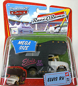 THE WORLD OF CARS RACE O RAMA MEGA SIZE ELVIS RV 台紙傷み特価