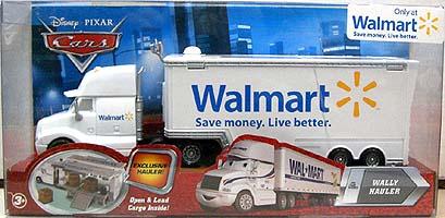 THE WORLD OF CARS WAL MART限定 WALLY HAULER ニューパッケージ パッケージ傷み特価