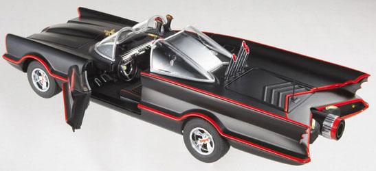 マテル ホットウィール 1/18スケール 1966年 TV版 バットモービル ダイキャストミニカー エリート版 マットブラックバージョン