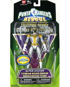 USA BANDAI POWER RANGERS SUPER LEGENDS TITANIUM RESCUE RANGER