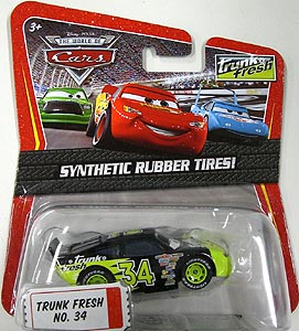 MATTEL CARS THE WORLD OF CARS K-MART限定 SYNTHETIC RUBBER TIRES! TRUNK FRESH NO.34