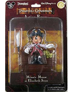 PIRATES OF THE CARIBBEAN USAディズニーテーマパーク限定 フィギュア MINNIE MOUSE AS ELIZABETH SWAN