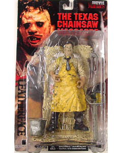McFARLANE MOVIE MANIACS 1 THE TEXAS CHAINSAW MASSACRE LEATHERFACE [血糊なし] 国内版 ブリスターヤケ&台紙傷み特価
