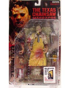 McFARLANE MOVIE MANIACS 1 THE TEXAS CHAINSAW MASSACRE LEATHERFACE [血飛沫パッケージ]