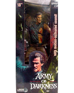 McFARLANE MOVIE MANIACS 4 18インチ ARMY OF DARKNESS ASH 箱若干ヤケ特価