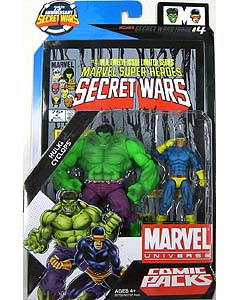 HASBRO MARVEL UNIVERSE COMIC PACKS SECRET WARS HULK & CYCLOPS