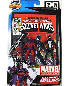 HASBRO MARVEL UNIVERSE COMIC PACKS SECRET WARS BLACK COSTUME SPIDER-MAN & MAGNETO