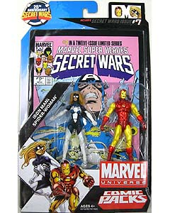 HASBRO MARVEL UNIVERSE COMIC PACKS SECRET WARS IRON MAN & SPIDER-WOMAN