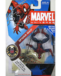 HASBRO MARVEL UNIVERSE SERIES 1 #032 SPIDER MAN [ポーズ違い・逆さ向き] [DARK BLUE & RED] 台紙傷み特価