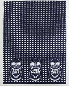 ASTRO ZOMBIES / ロゴマーク 手ぬぐい (豆しぼり・紺×白)