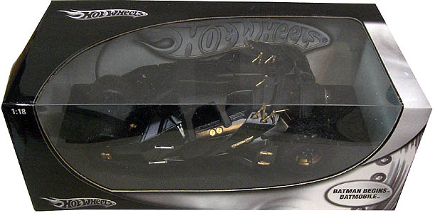 MATTEL BATMAN BEGINS HOT WHEELS 1/18スケール ダイキャスト製 BATMOBILE