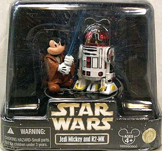 STAR WARS USA ディズニーテーマパーク限定フィギュア JEDI MICKEY AND R2-MK 2PACK