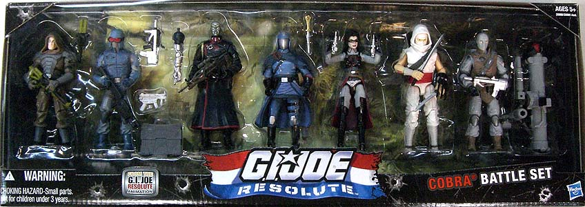 HASBRO G.I.JOE RESOLUTE 7PACK COBRA BATTLE SET