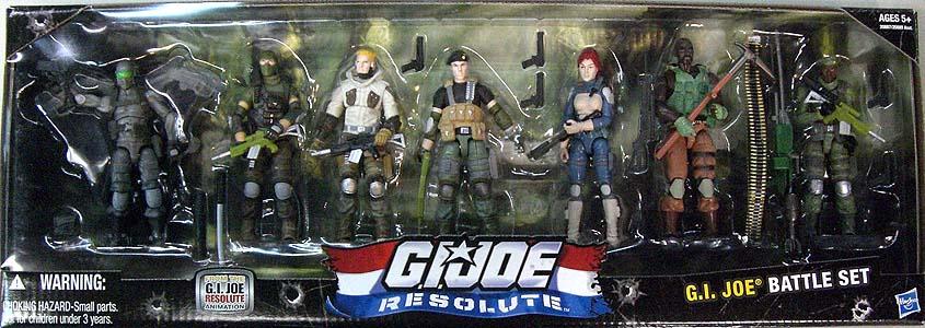 HASBRO G.I.JOE RESOLUTE 7PACK G.I.JOE BATTLE SET