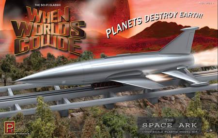 PEGASUS HOBBIES 1/350スケール WHEN WORLDS COLLIDE SPACE ARK 組み立て式プラモデル パッケージ傷み特価