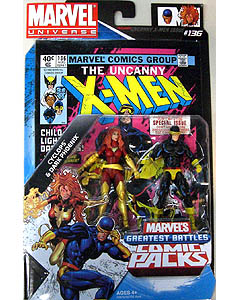 HASBRO MARVEL UNIVERSE COMIC PACKS UNCANNY X-MEN CYCLOPS & DARK PHOENIX