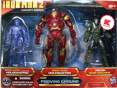 HASBRO 映画版 IRON MAN 2 3.75インチ USA KMART限定 CONCEPT SERIES PROVING GROUND 3PACK