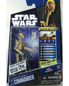 HASBRO STAR WARS THE CLONE WARS BASIC FIGURE BATTLE DROID COMMANDER