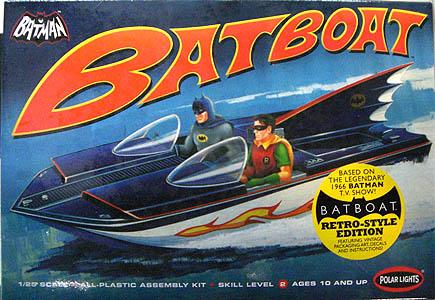 POLAR LIGHTS 1/25スケール 1966 BATBOAT 組み立て式プラモデル レトロスタイルエディション