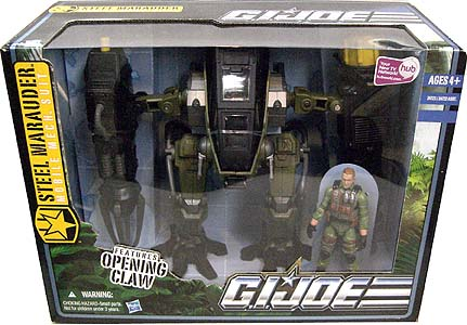 HASBRO G.I.JOE THE PURSUIT OF COBRA ビークル STEEL MARAUDER MOBILE MECH SUIT WITH KICKSTART