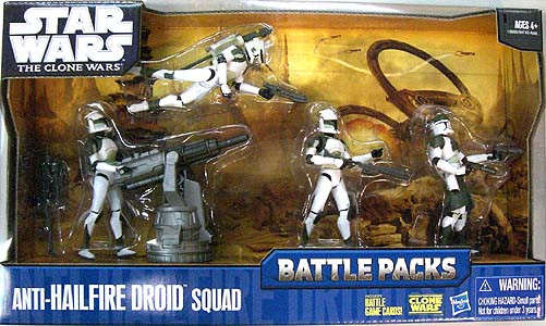 HASBRO STAR WARS THE CLONE WARS BATTLE PACKS ANTI-HAILFIRE DROID SQUAD