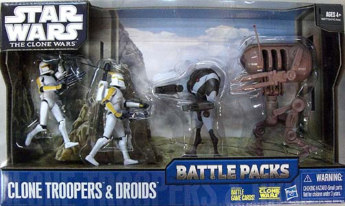 HASBRO STAR WARS THE CLONE WARS BATTLE PACKS CLONE TROOPERS & DROIDS