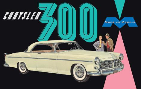 メビウスモデル 1/25スケール 1955 クライスラー C300 組み立て式プラモデル