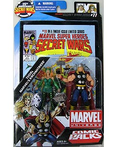 HASBRO MARVEL UNIVERSE COMIC PACKS SECRET WARS THOR & MARVEL'S ENCHANTRESS