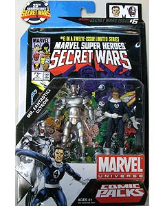 HASBRO MARVEL UNIVERSE COMIC PACKS SECRET WARS MR.FANTASTIC & ULTRON