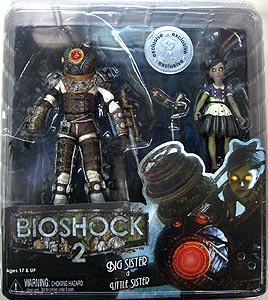 NECA PLAYER SELECT USAトイザラス限定 BIOSHOCK 7インチフィギュア BIG SISTER & LITTLE SISTER 2PACK
