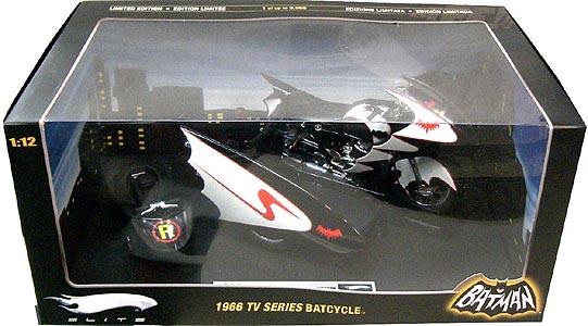 マテル ホットウィール 1/12スケール 1966年 TV版 バットサイクル&サイドカー ダイキャストミニカー エリート版